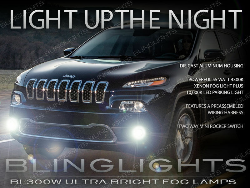 2014 2015 jeep cherokee xenon halogen fog lamps driving. Black Bedroom Furniture Sets. Home Design Ideas