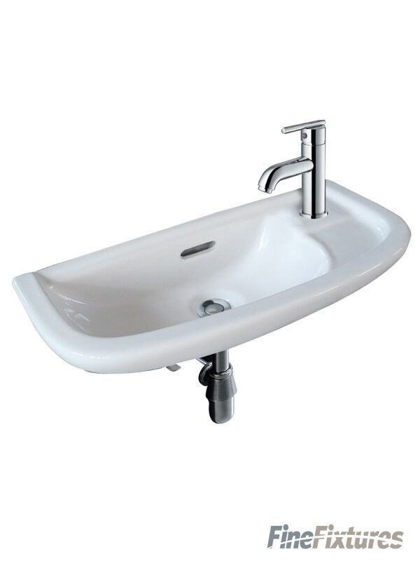 Wall Sink Bracket : Small Wall Mount Sink white 19x9 for Bathroom includes a metal bracket ...