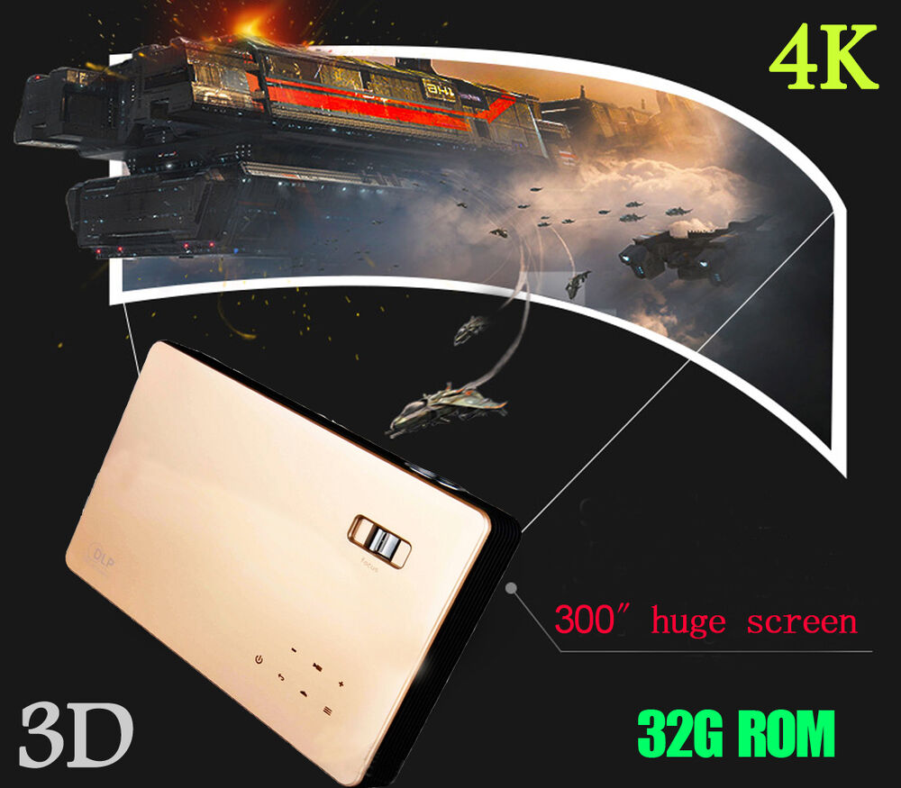 UHD 1080P 4K Home Theater DLP Projector 3D Wifi HDMI LED