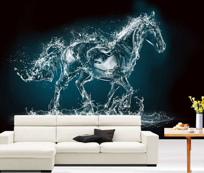 Water Art Fantasy Horse Full Wall Mural Photo Wallpaper