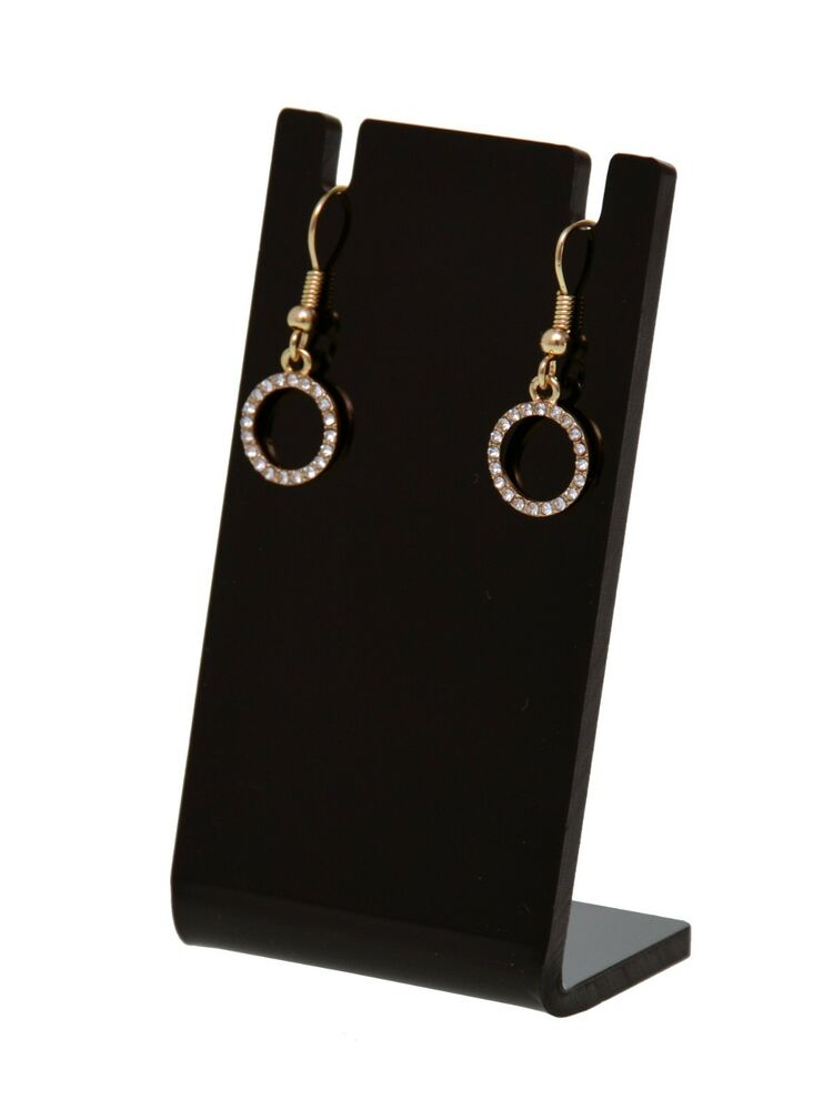 earring necklace jewelry black acrylic counter display. Black Bedroom Furniture Sets. Home Design Ideas
