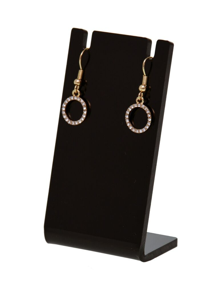Exhibition Stand Jewelry : Earring necklace jewelry black acrylic counter display