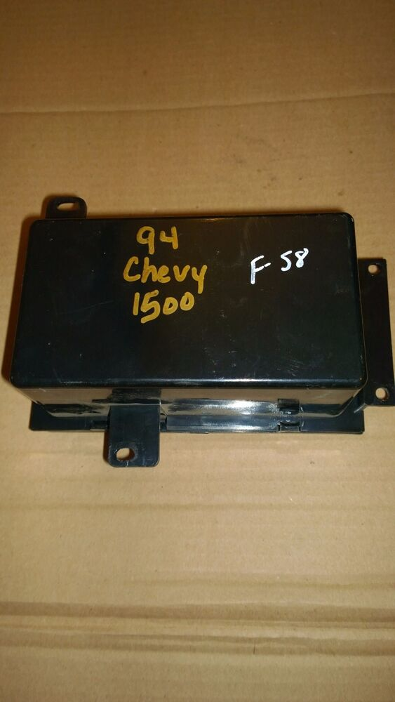 94 chevy 1500 fuse relay center box cover under hood. Black Bedroom Furniture Sets. Home Design Ideas