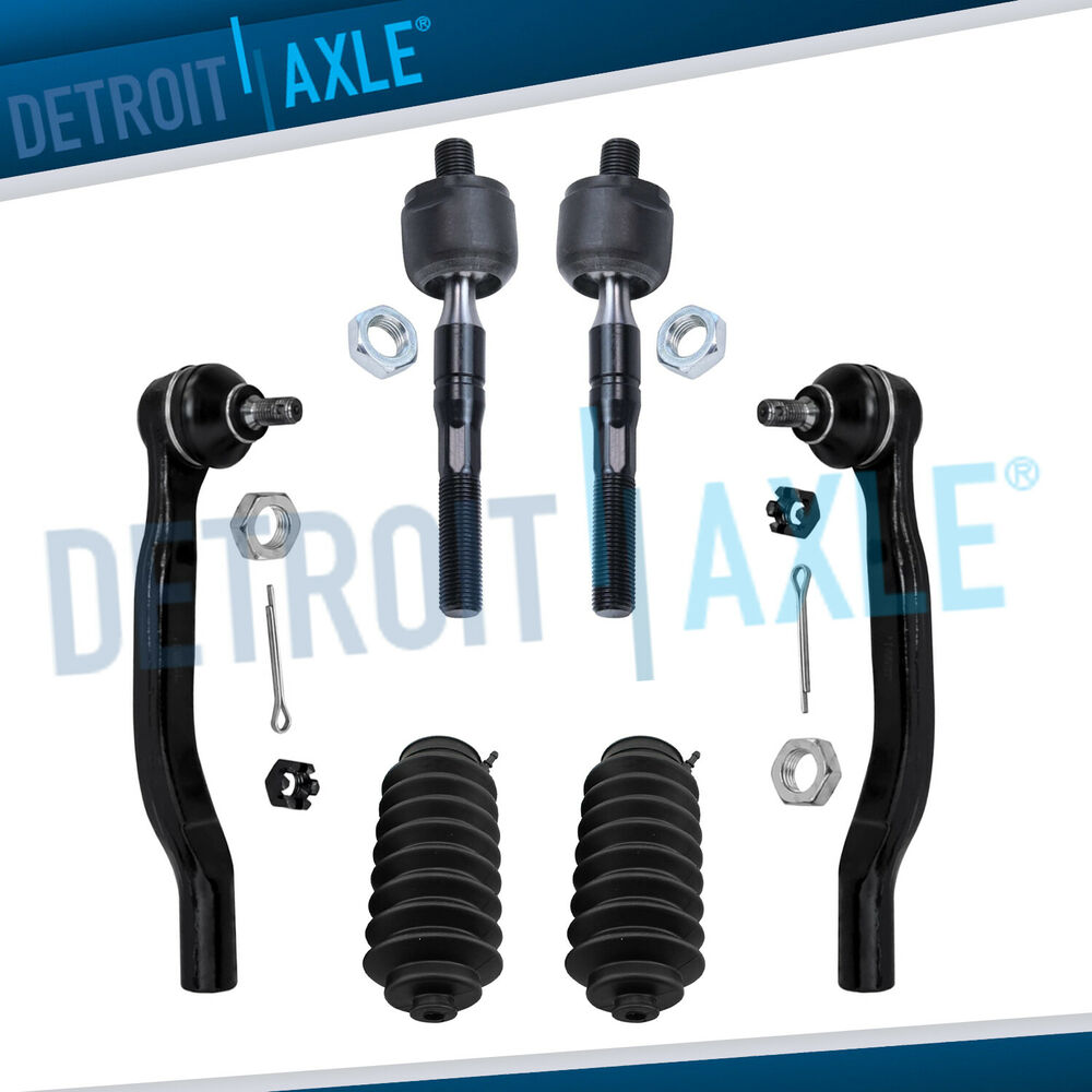 New 6pc front suspension tie rod end link and rack boot for Suspension rond