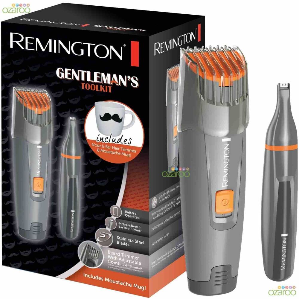 remington mens gentlemans beard trimmer shaver nose trimmer tool kit mb4011 ebay. Black Bedroom Furniture Sets. Home Design Ideas