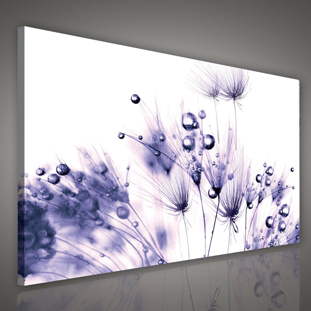 wandbilder canvas bild foto poster wandbild leinwand pusteblume violett 1571 o1 ebay. Black Bedroom Furniture Sets. Home Design Ideas