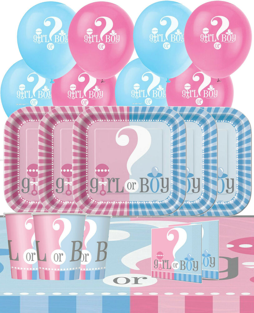 Baby shower gender reveal party pack kit decorations for Baby boy shower decoration kits