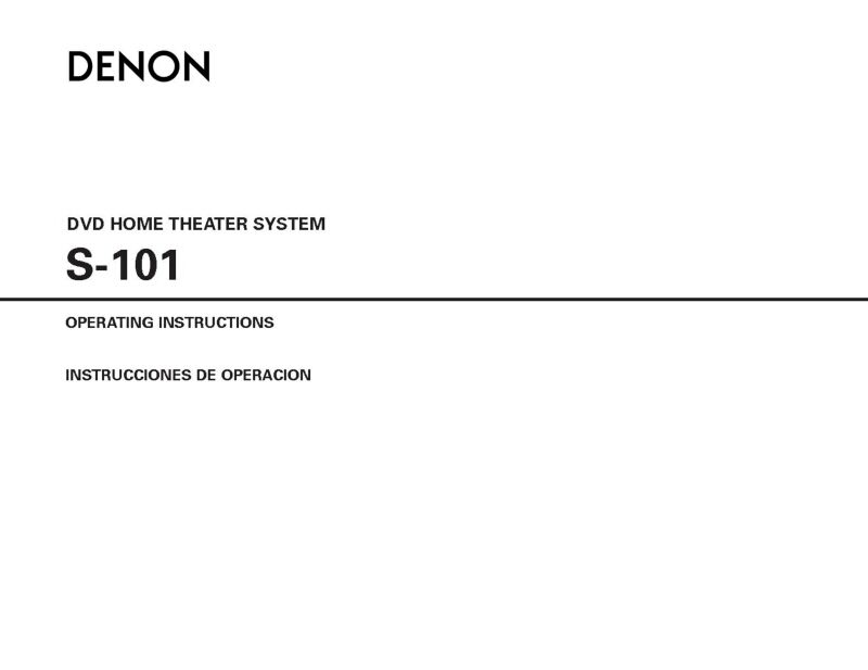 denon s 101 home theater system owners manual ebay. Black Bedroom Furniture Sets. Home Design Ideas