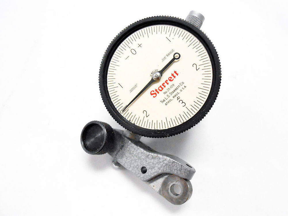 Dial Indicator Mounting In Collet : Starrett dial indicator gauge with mm mount
