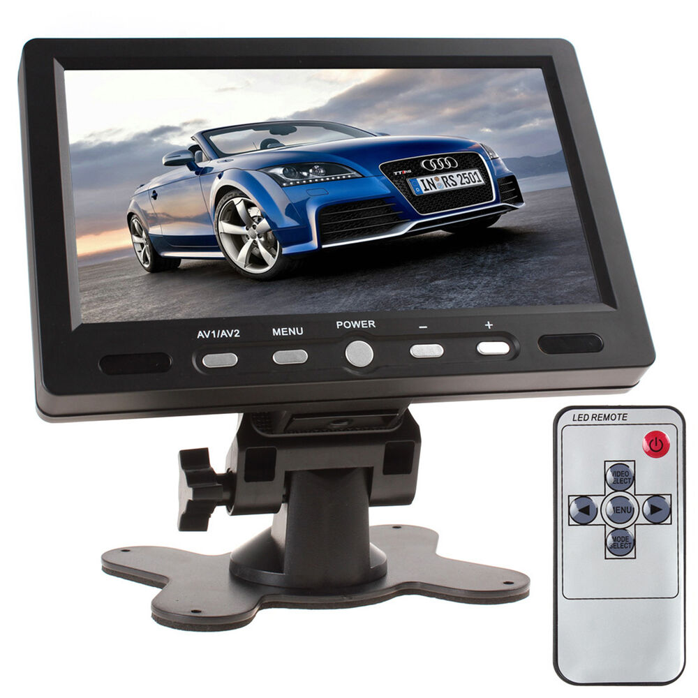 7 inch 800x480 tft lcd screen av hdmi vga car rear view. Black Bedroom Furniture Sets. Home Design Ideas