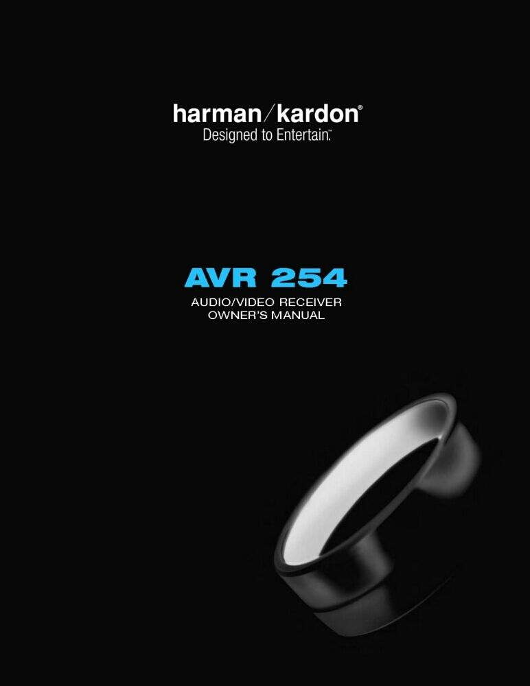 harman kardon avr 254 av receiver owners manual ebay. Black Bedroom Furniture Sets. Home Design Ideas