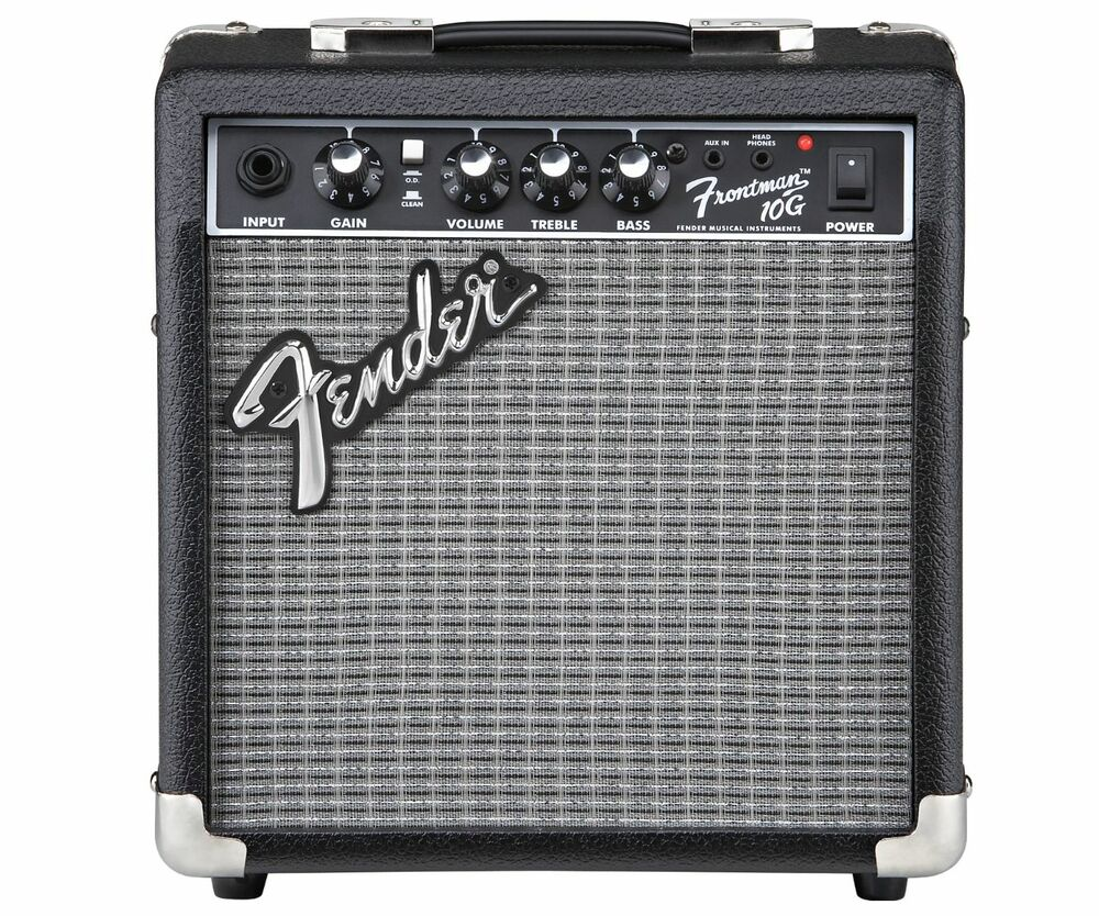fender 10 watt electric guitar practice amp amplifier 6 speaker great tone new ebay. Black Bedroom Furniture Sets. Home Design Ideas