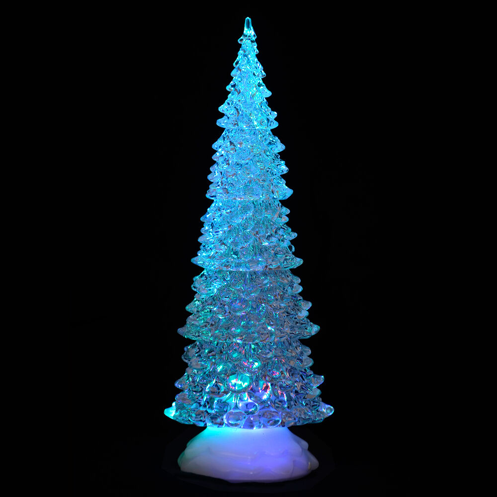 Small Battery Operated Christmas Tree: Battery Operated Colour Changing LED Acrylic Tall Tree