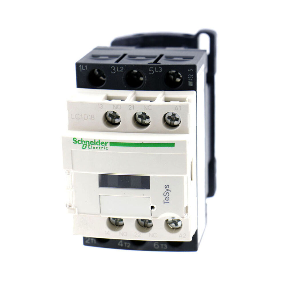 Schneider Lc1d18 Motor Control Ac Contactor 32 Amp 3 Phase