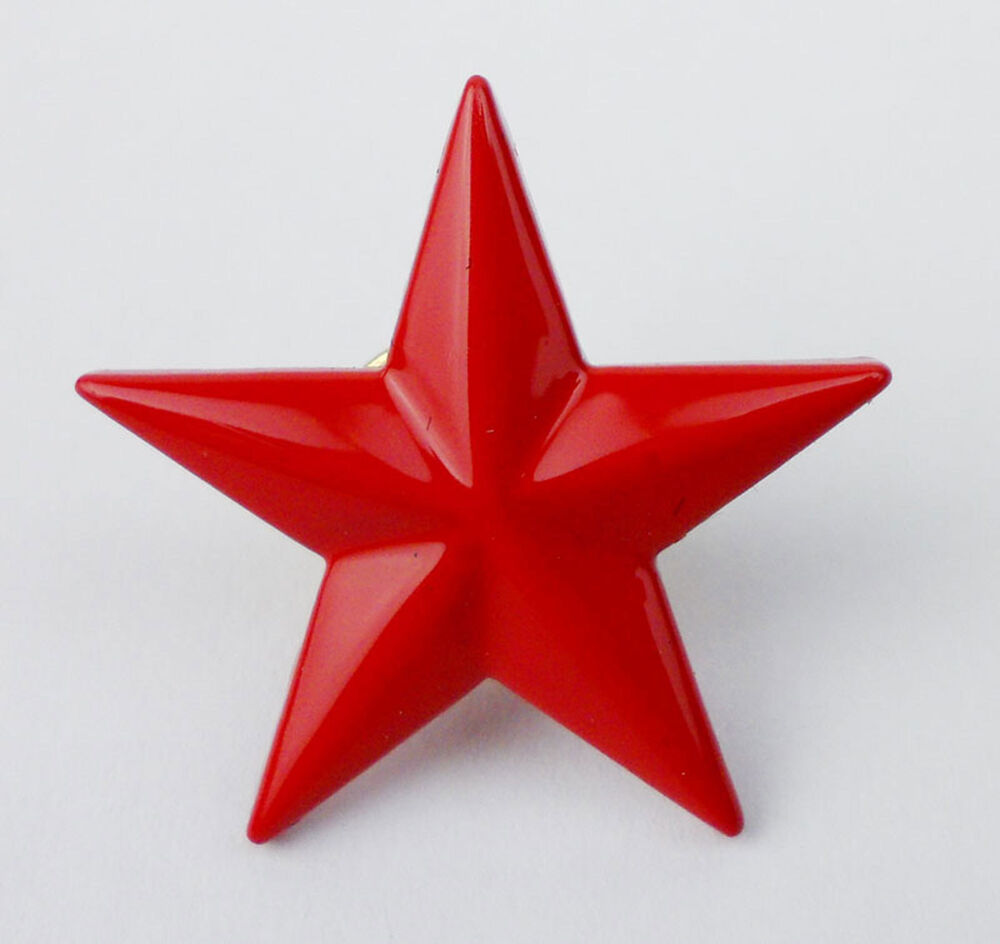 UNKNOW ARMY MILITARY RED STAR PIN BADGE INSIGNIA STAR