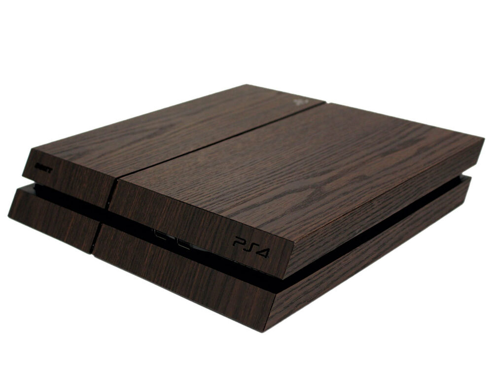 skin kratzfest f r sony playstation 4 ps4 3d aufkleber sticker folie holz braun ebay. Black Bedroom Furniture Sets. Home Design Ideas