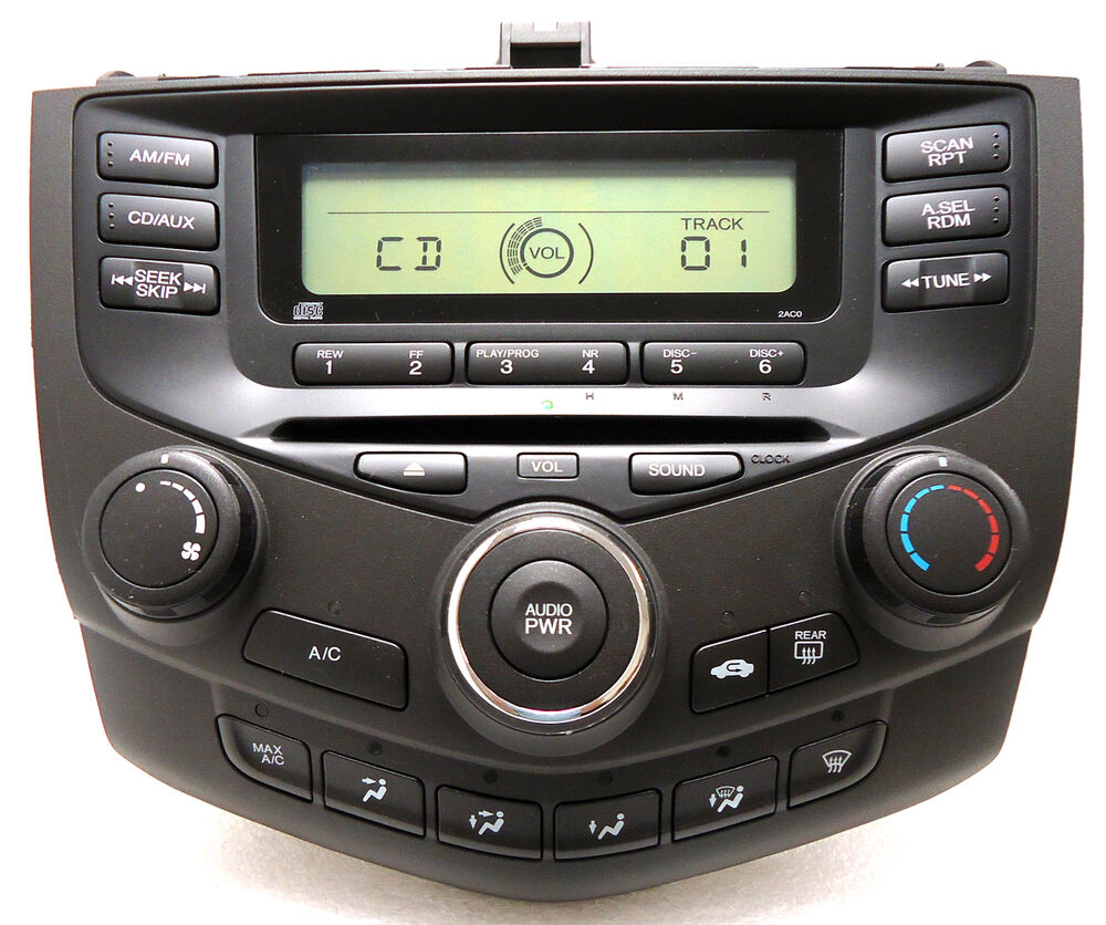 03 04 05 06 07 honda accord sedan cd player radio stereo. Black Bedroom Furniture Sets. Home Design Ideas