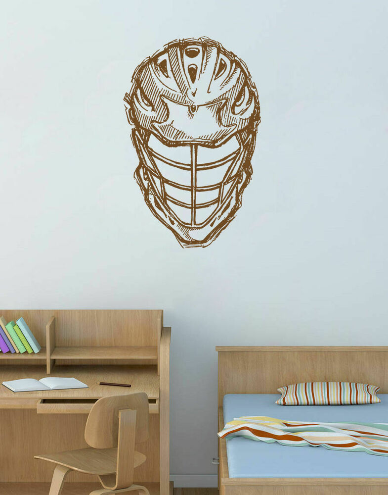 ik875 Wall Decal Sticker lacrosse helmet sport room teens ...