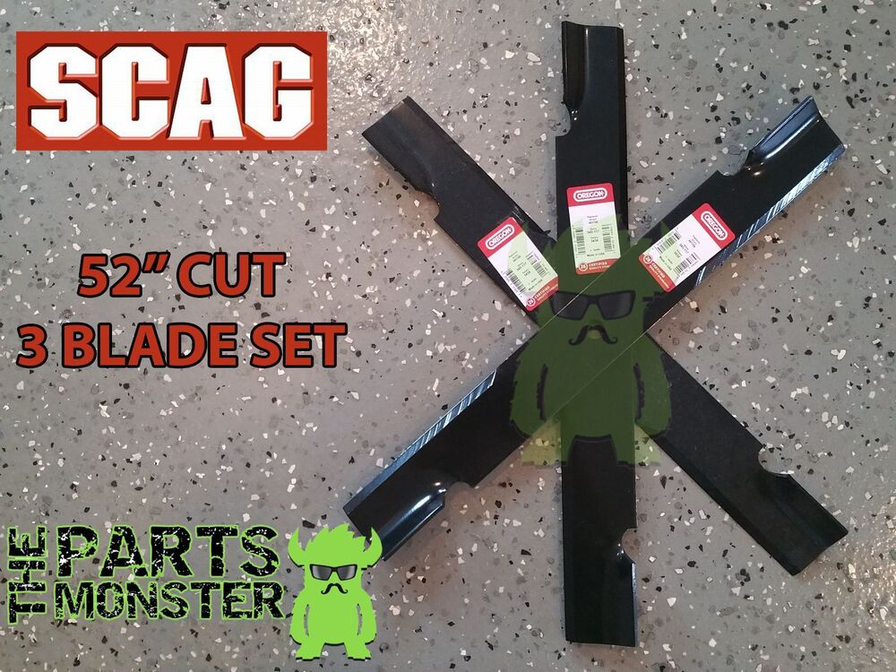 3 Pack Scag 52 Quot Blade Set Hi Lift Lawn Mower