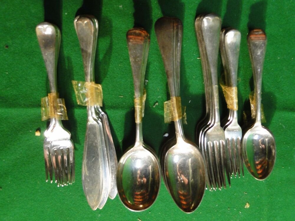 FLATWARE SILVER PLATED ANTIQUE OLD ENGLISH MARKED & GREAT ...