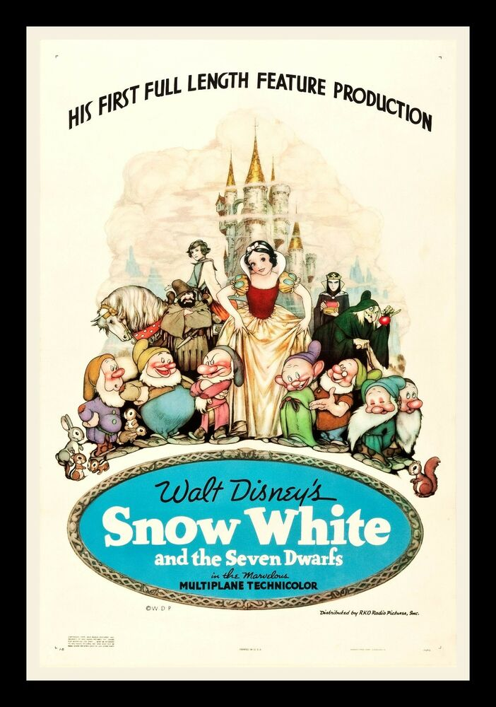 SNOW WHITE AND THE 7 SEVEN DWARFS 1937 CineMasterpieces