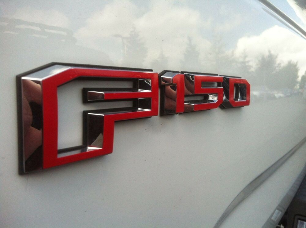 Ford F150 2015 Side And Tailgate Emblem Overlay Decals