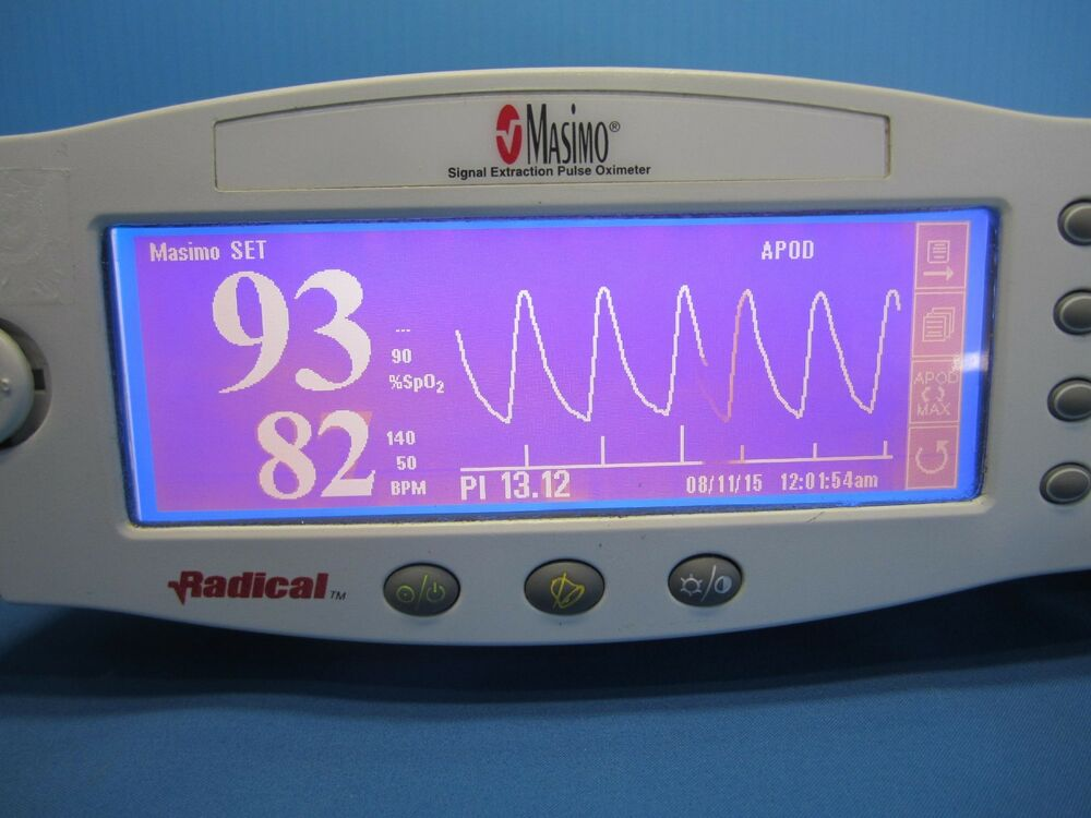 Masimo Pulse Oximeter >> Masimo SpO2 Patient Monitor finger probe All Cables Mount Radical Heart Rate | eBay