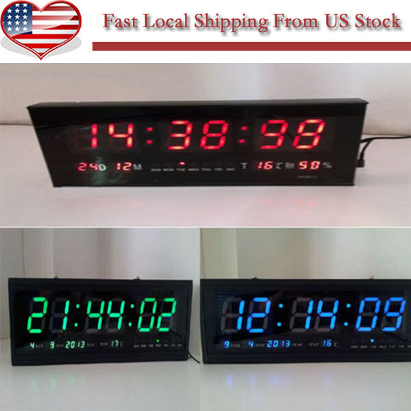 new digital large big digits led wall desk clock with