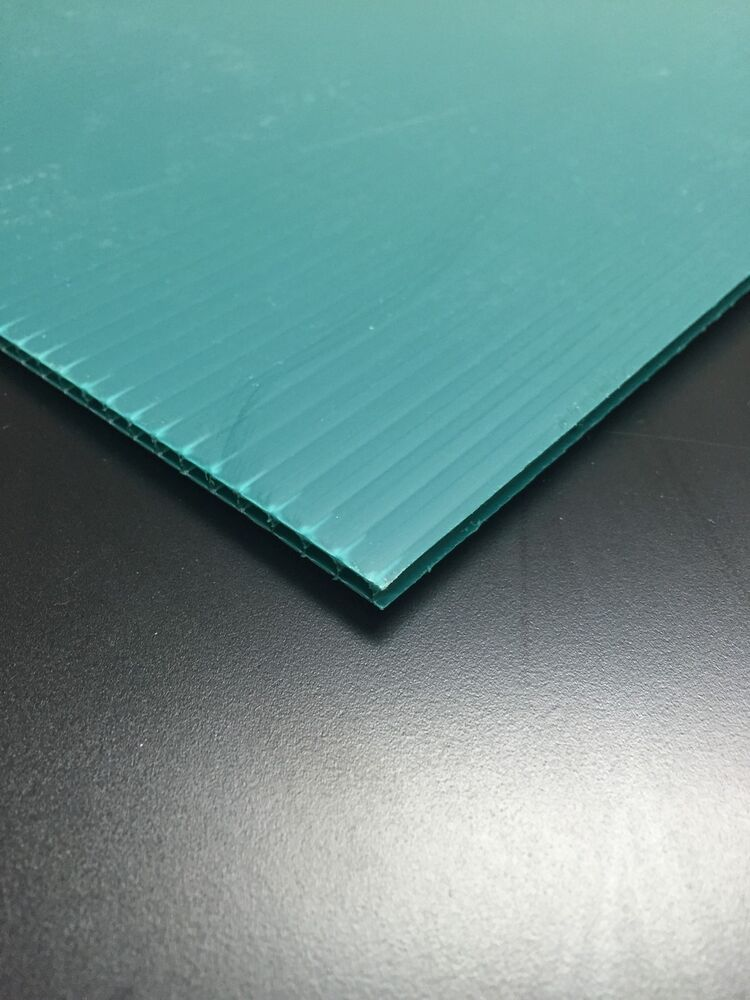 Corrugated Plastic Windows : Mm green  pack corrugated plastic coroplast