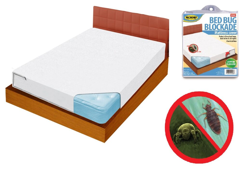 Bed bug dust mite allergy relief blockade mattress cover for Dust mite and bed bug mattress covers