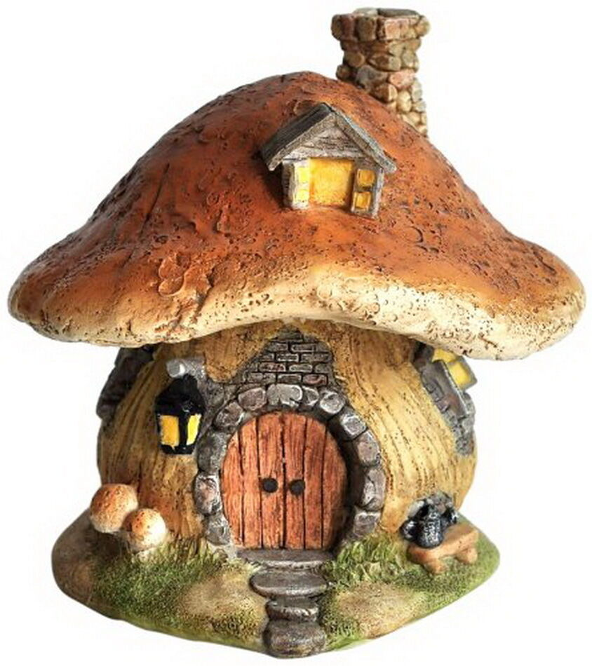 New Dollhouse Miniature Fairy Gnome Hobbit Cottage House ...