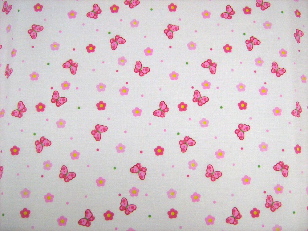 Butterfly pink polycotton children prints dress fabrics for Childrens dress fabric