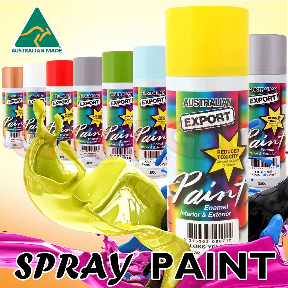 Australian Export Spray Paint Cans 250gm Fast Shipping 34 Colours Ebay