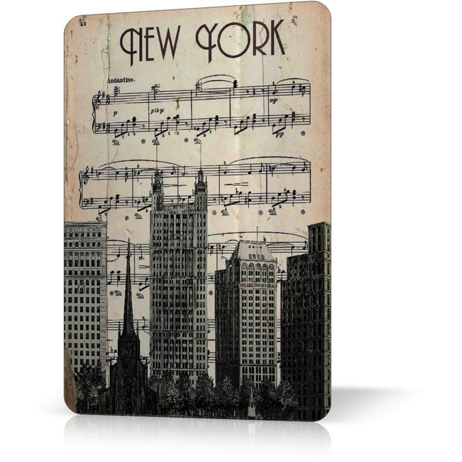 Metal Signs For Home Decor: METAL TIN SIGN NEW YORK MANHATTAN ANTIQUE POSTER Vintage