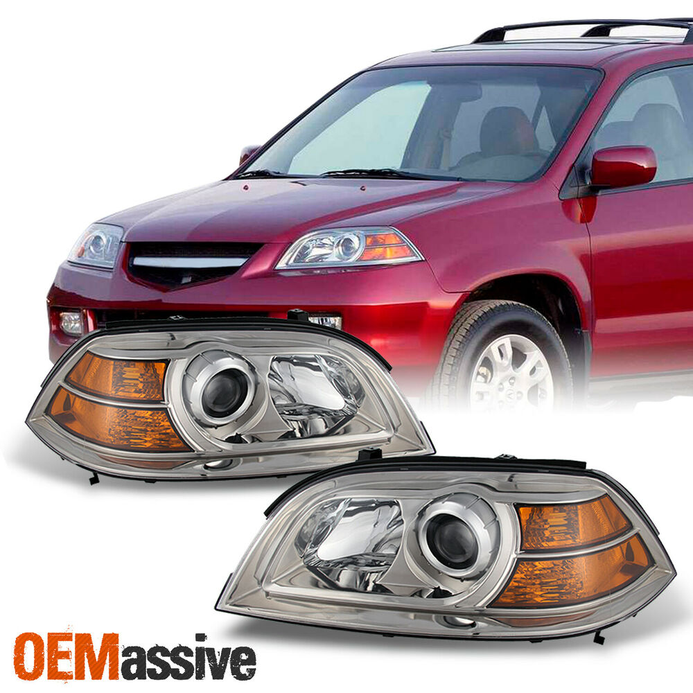 04-06 Acura MDX Replacement Projector Headlights Headlamps