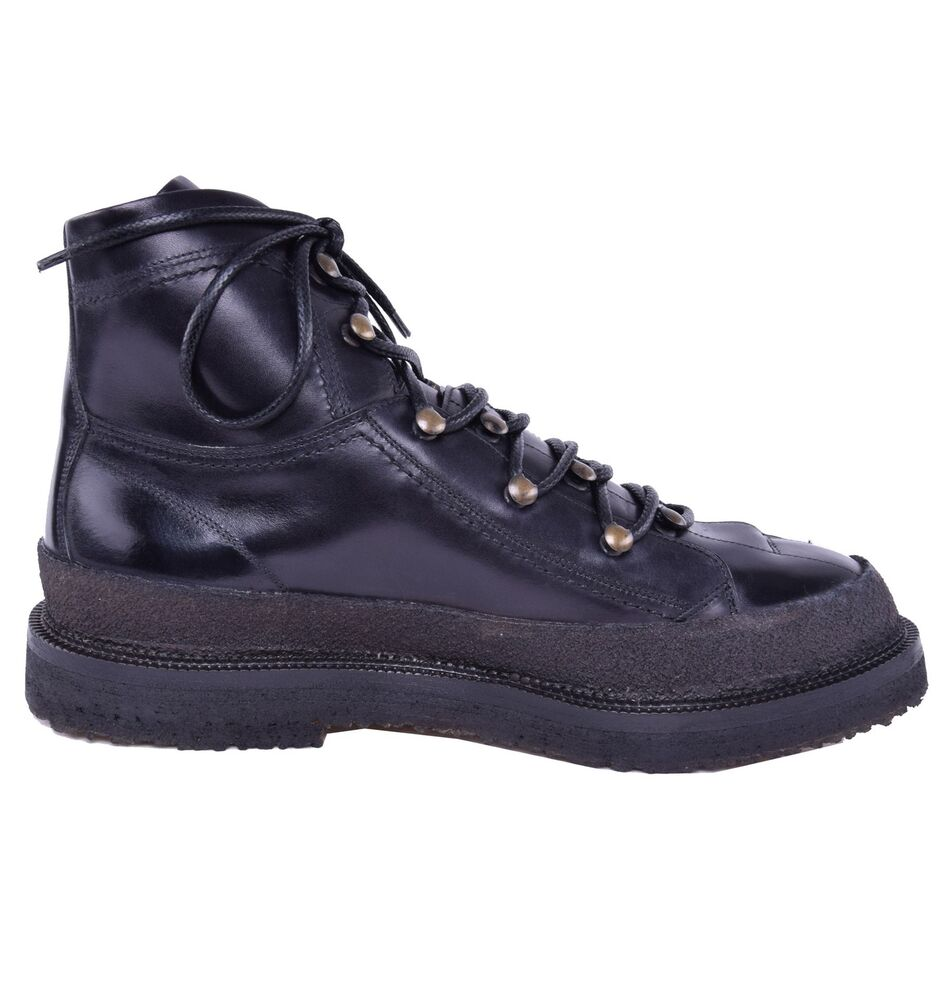 dolce gabbana hiking style leather boots shoes black