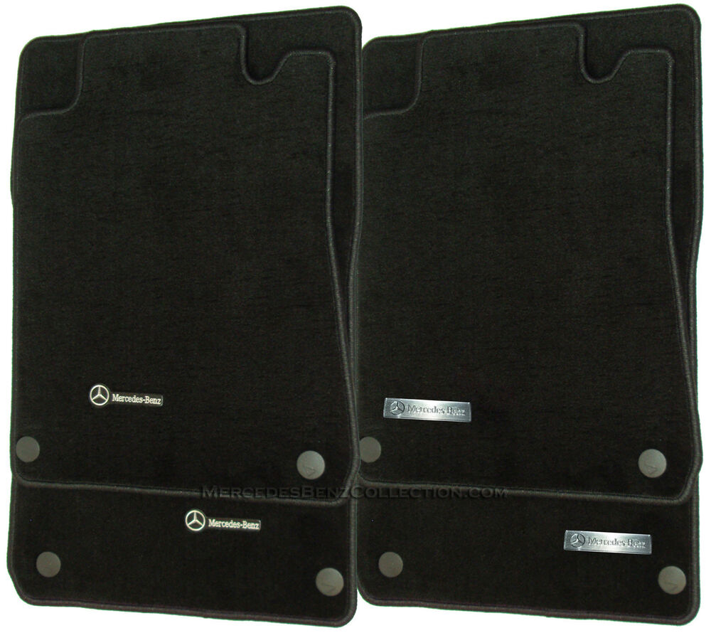 Mercedes benz genuine oem carpeted floor mats c class rwd for Mercedes benz e350 floor mats