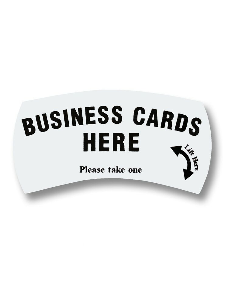 """Lot Of 10 Card Caddie """"Business Cards Here Please Take One"""