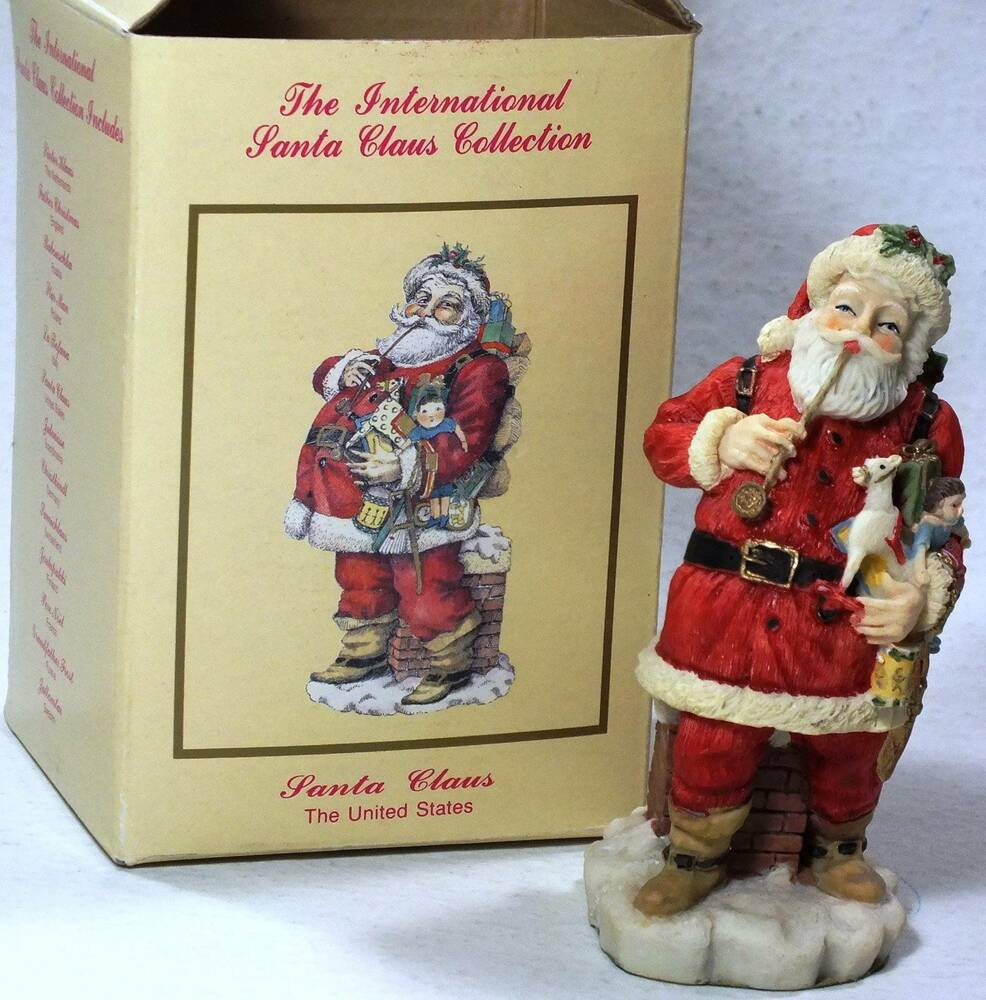 Santa figurine international claus collection usa