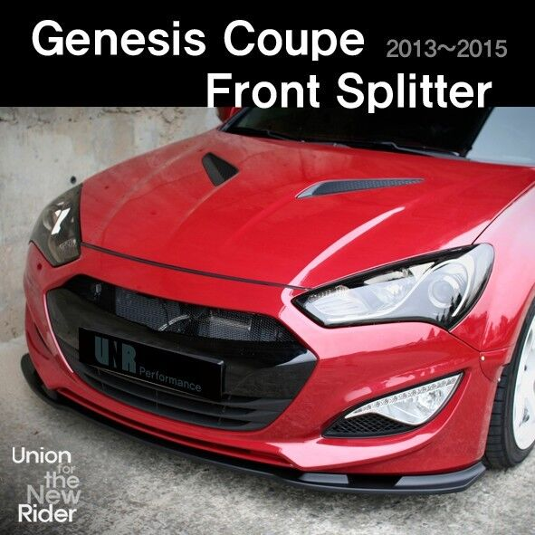 unr performance front lip for hyundai genesis coupe 2013. Black Bedroom Furniture Sets. Home Design Ideas