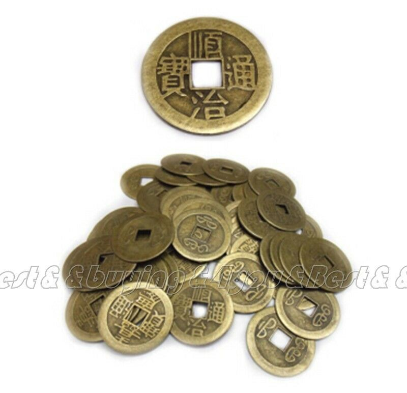 100x feng shui chinese dragon phoenix coins lucky ching - Feng shui good luck coins ...