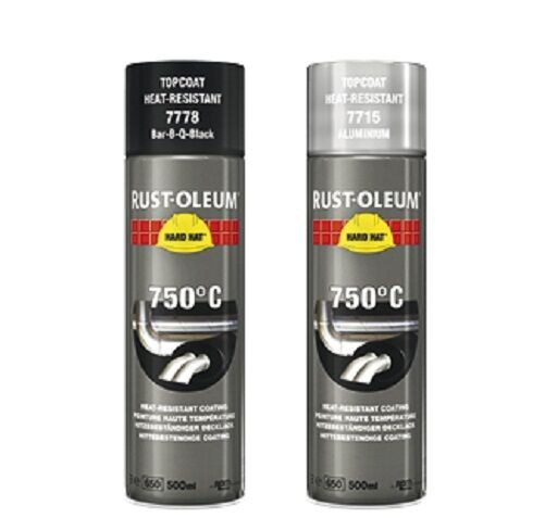 500ml rustoleum heat resistant spray paint for metal 7715. Black Bedroom Furniture Sets. Home Design Ideas