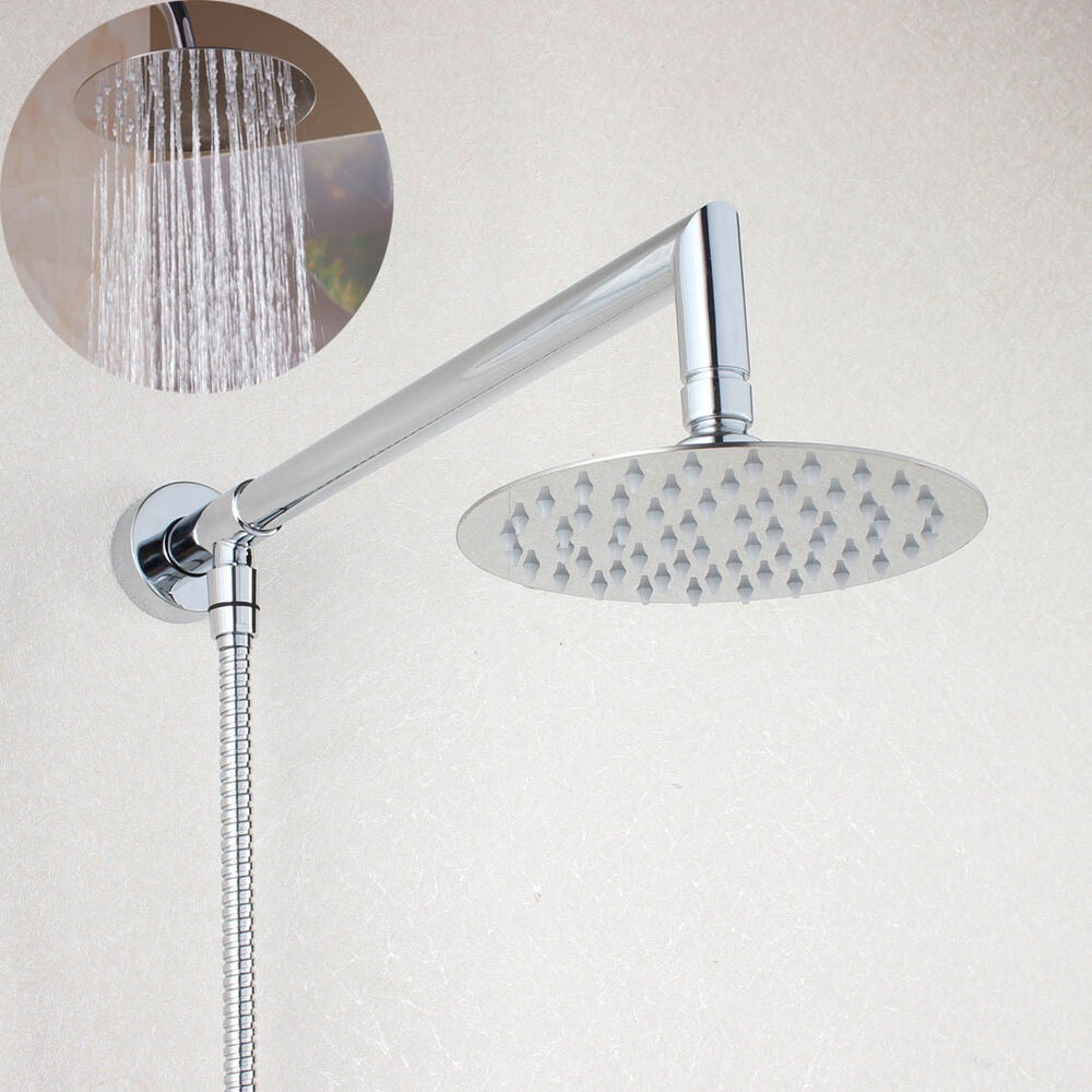 Wall Mount 6 Quot 8 Quot Rainfall Shower Head With Shower Arm