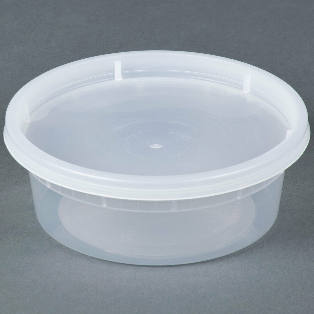 sunnycare 8 oz clear round deli container with lid 250. Black Bedroom Furniture Sets. Home Design Ideas