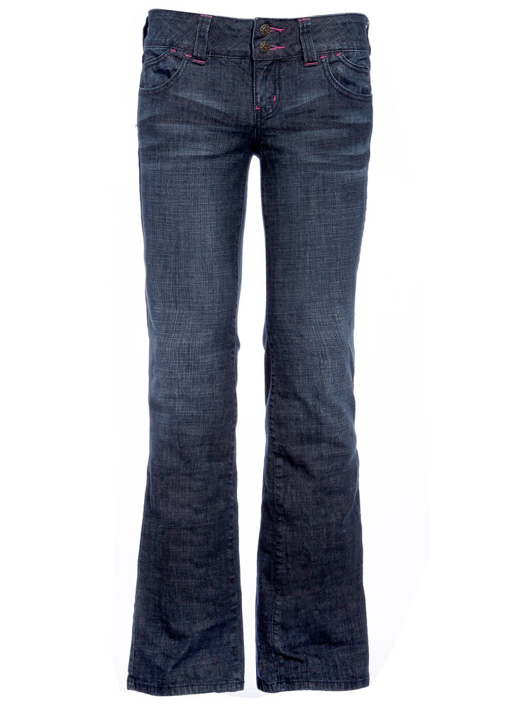 Womens Stretch Boot Cut Jeans Boot Leg Flared Denim Trouser Pants Size 6 8 10 12 | eBay
