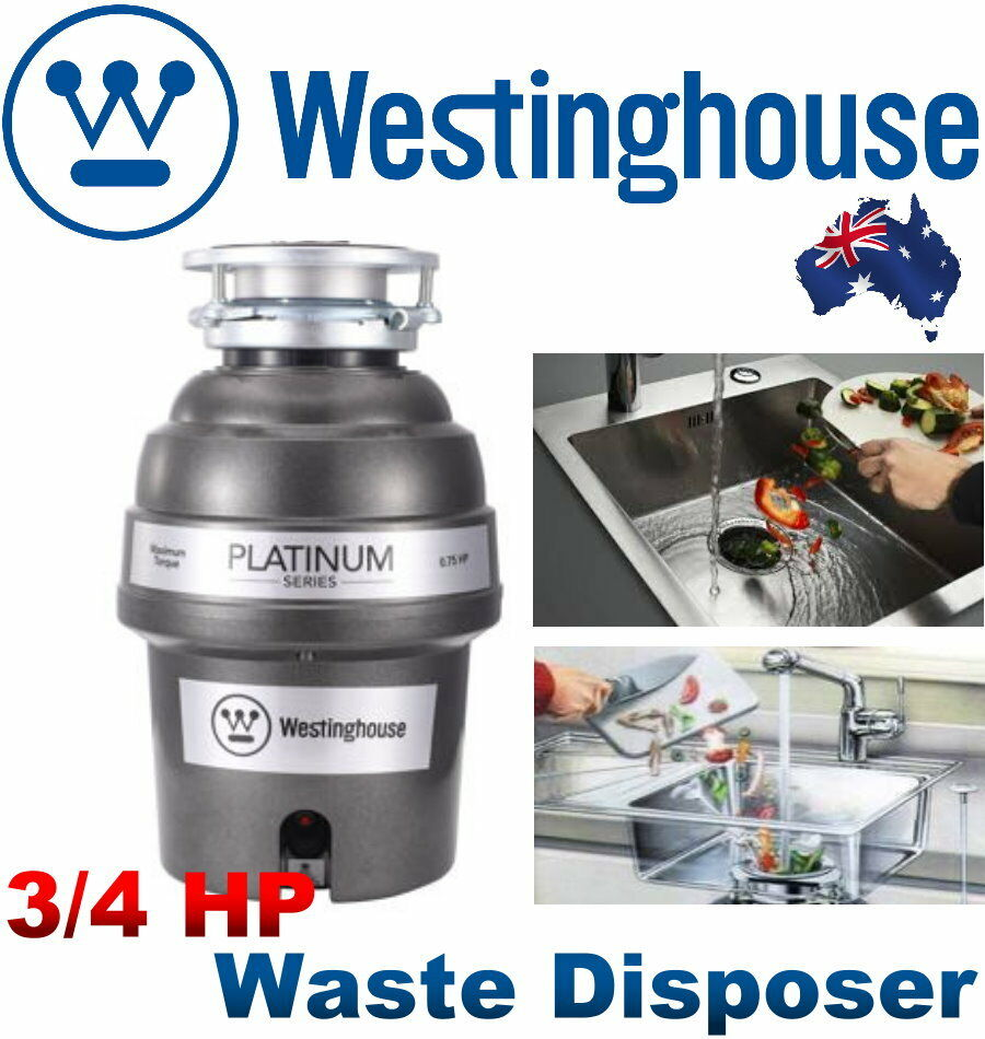 kitchen sink backup garbage disposal new westinghouse 3 4 hp 2600 rpm motor waste disposer 8440