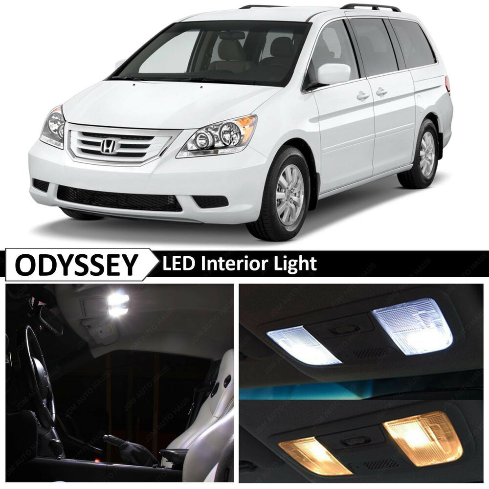 15x White Led Light Interior Package Kit For 2005 2010 Honda Odyssey Tool Ebay
