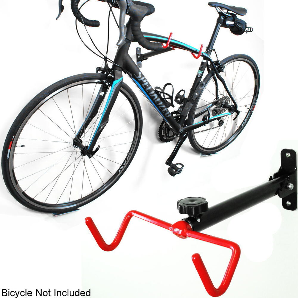 single bike bicycle wall mount folding display rack frame hanger storage hook r ebay. Black Bedroom Furniture Sets. Home Design Ideas