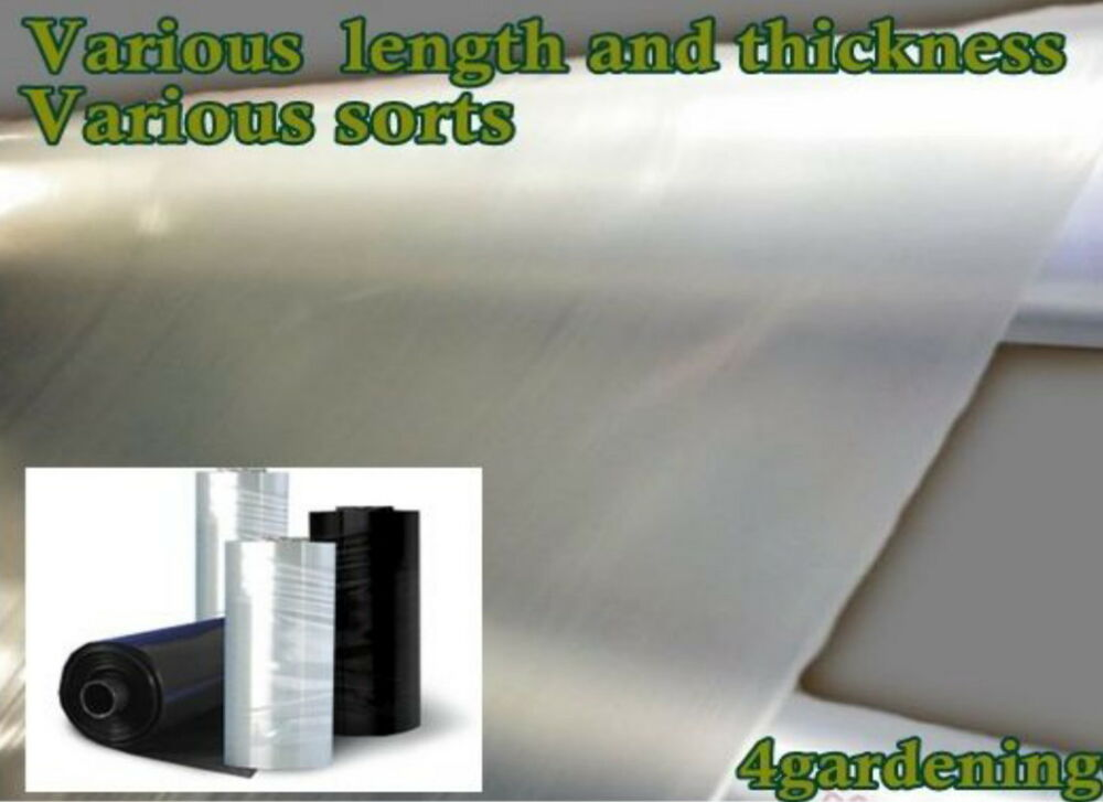 500 Micron Damp Proof Membrane Sheet : Poly sheeting clear or black polythene plastic various