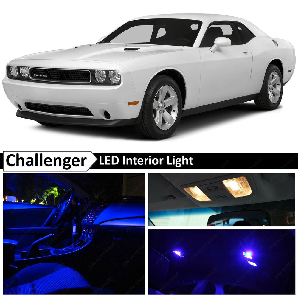 9x Blue Interior Led Lights Package Kit For 2008 2014 Dodge Challenger Ebay